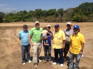 DiputadoTito Afu visiting the sports committee at the new field